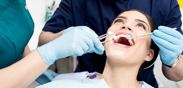 girl getting a root canal