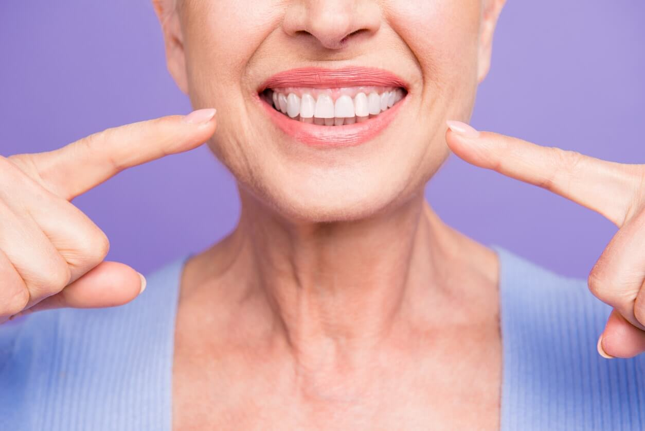 strong healthy straight white perfect teeth